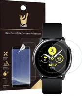 iCall - Samsung Galaxy Watch Active Screenprotector - Crystal Clear Screen Protector Volledig Beeld Full Screen Cover