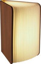 Gadgy Boeklamp Hout: 21.5 x 17 cm - Book Lamp – USB oplaadbaar - Tafellamp