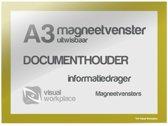 Magneetvenster A3 (uitwisbaar) - Geel