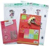 Hobby wenskaartenpakket - Marianne Design products assorti snoep hartjes NL - 1 stuk