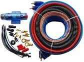 kabelkit / Kabelset 6mm2 voor auto versterker of actieve subwoofer - Kabelset 6mm² 60 A tbv Versterker Auto - Voedingskabel - cinch-kabel - zekering - luidsprekerkabel - kabelschoenen
