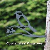 Koolmees Cortenstaal - By Aimy Birds - 29 x 18,3 cm BxH