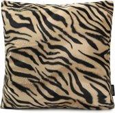 Furry Tiger / Harige Tijger Kussenhoes | Katoen - Polyester | 45 x 45 cm