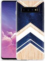 Galaxy S10 Hoesje Space wood