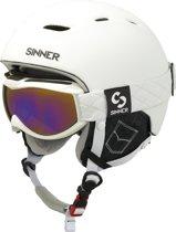 SINNER Combi-Pack ( Nova + Toxic S ) - Skihelm - Volwassenen - Maat S - Wit