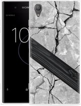 Sony Xperia XA1 Plus Hoesje Marble Wood
