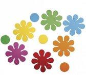 Crepla ponsdeeltjes bloemen zelfklevend 80 stuks