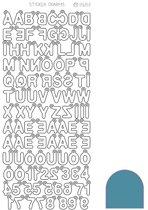 Sticker Charm ABC - Mirror Turquoise