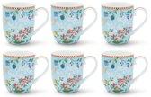 Pip Studio Floral Mok Klein Hummingbirds Blauw - 6 stuks