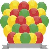 """Ballonnen Set """"Carnaval"""" Rood / Geel / Groen (30ST)"""