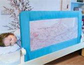 Stevig Inklapbaar Bedhekje - Easyfit Bedrekje - Baby/Peuter Bedrand - Jongens - Blauw - 120 Centimeter