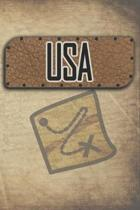 USA: Reisetagebuch, Notizbuch oder Urlaubsplaner mit Platz auf 120 wei�en linierten Dot Line Seiten zum Eintragen von Spr�c