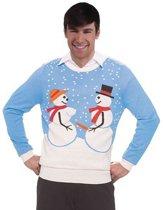 Foute kersttrui sneeuwmannen L