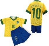 Brazilie - Neymar 10 - Set Shirt & Broek - Size 4 jaar - Geel/Blauw