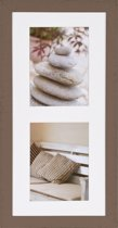 Henzo Driftwood 2x Fotolijst - Fotomaat 15x20 cm -  Bruin
