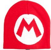 Nintendo - Gebreide Beanie - Mario Logo - Rood