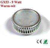 GX53 ledlamp 9watt Warm-wit - 720lumen