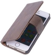 3bb8e70cdd1 BestCases.nl Donker Bruin Hout Apple iPhone 4 4s TV Stand Cover Book/Wallet