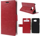 Magnetic Wallet Hoesje Samsung Galaxy S6 Edge rood