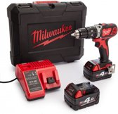 Milwaukee M18 BPD-402C 18V Li-Ion klop-/boorschroefmachine set