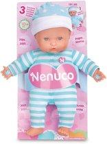 Pop Nenuco soft met geluid blauw 25 cm