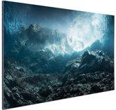 FotoCadeau.nl - Donkere rotsen onder water Aluminium 180x120 cm - Foto print op Aluminium (metaal wanddecoratie)