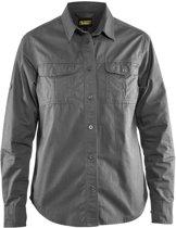 Blåkläder 3208-1135 Twill overhemd dames Grijs maat XXXL
