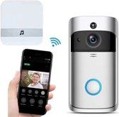 Deurbel met camera – Draadloze deurbel met camera – Deurtelefoon inclusief gong. Video deurbel