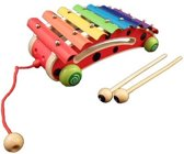 Playwood xylofoon lieveheersbeest op wielen