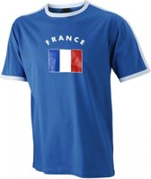 Blauw heren shirt vlag France L