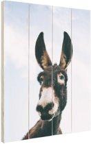 Close-up ezel Hout 40x60 cm - Foto print op Hout (Wanddecoratie)