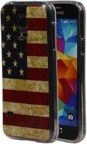 Samsung Galaxy S5 mini Hoesje Amerikaanse Vlag TPU USA
