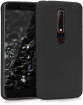 """DrPhone Nokia 6.1/ Nokia 6 (2018) siliconen hoesje - TPU case - Ultra dun flexibele hoes  €"""" Zwart"""