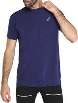 Asics Gel-Cool SS Tee  2011A314-401, Mannen, Blauw, T-shirt maat: L EU