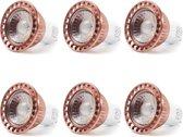 6 stuks YWXLight 5W GU10 geleid gloeilamp gelijkwaardige vervanging halogeen lamp COB Light Cup  AC 85-265V (natuurlijk wit)