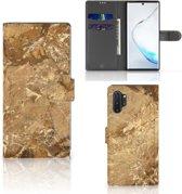 Samsung Galaxy Note 10 Plus Bookcase Marmer Beige