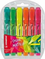 STABILO Swing Cool Colormatrix - Etui 6 stuks