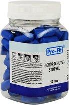 Wegwerp oorpluggen oordoppen - blauw  1 setje à 50 paar