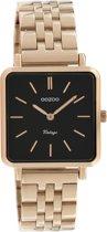 OOZOO Vintage C9959 Rosékleurig Zwart Horloge 29x29mm