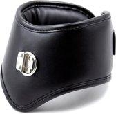 Banoch - Posture collar classic - zwarte posture collar met riem - bdsm