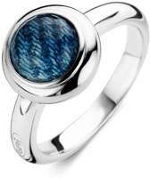 Ti Sento Ring met denimkleurig detail