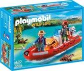 Playmobil Rubberboot met stropers - 5559 werkt ook met de playmobil onderwatermotor