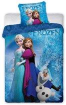 Disney Frozen Sisters en Olaf - Dekbedovertrek - Eenpersoons - 140 x 200 cm - Blauw