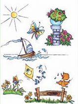 Marianne Design DDs3333 Clear stamp Theme: Don en Daisy Summer