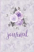 Lavender Floral Water Color 120 Pages Notebook Bullet Journal