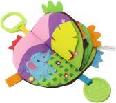 babyboekje Dieren knisper boekje met bijtring en stoffen uitsteeksels