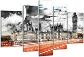 Glasschilderij Modern | Rood, Grijs, Zwart | 170x100cm 5Luik | Foto print op Glas |  F004413