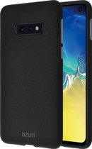 Azuri flexible cover with sand texture - black - for Samsung Galaxy S10 E