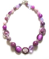 Jewellicious Designs Ketting Shiny Purple