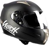 Westt Storm · Full Face zwarte scooter integraalhelm  · Motorhelm dames en heren · ECE goedgekeurd